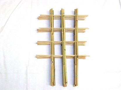Obrázok z Rebrík bambusový dvojitý 60 cm - BALENIE 5ks