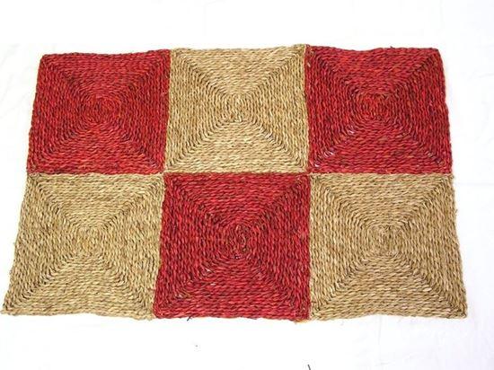 Obrázek z Rohož na podlahu - mořská tráva 90x150 červená