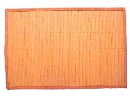 Obrázok z Bambusové prestieranie 30x45cm - oranžová
