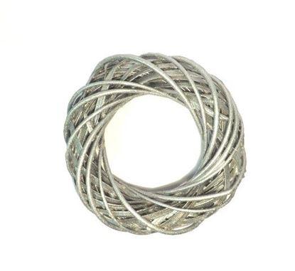 Obrázek Stříbrný proutěný věnec ø40cm