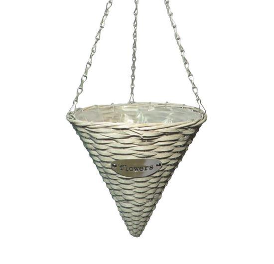 Obrázek z Závěsný koš proutěný - s fólií, špičatý (4 BARVY)
