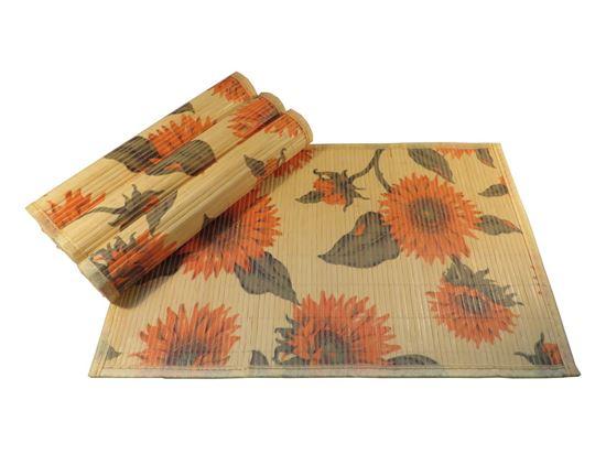 Obrázek z Bambusové prostírání 30x45cm - kytky