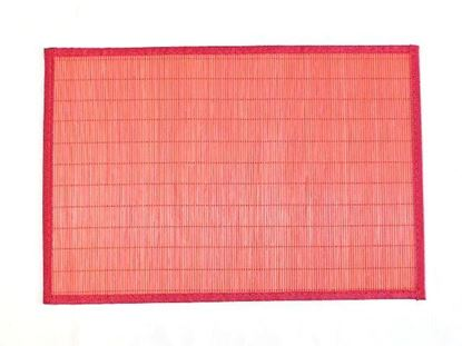 Picture of Bambusové prostírání 30x45cm - červená
