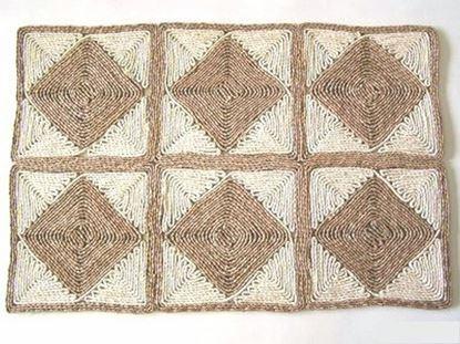 Picture of Rohož na podlahu - kukuřičná 60x90 - vzor kosočtverec