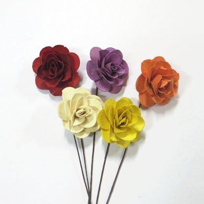 Obrázok z Deco ruža malá - farebná, na stonke (25ks)
