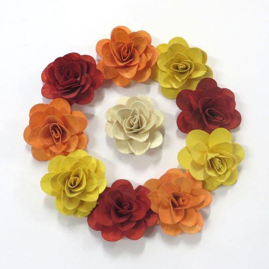 Obrázok z Deco ruža stredná - farebná (50ks)