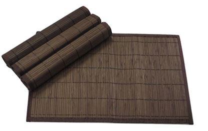 Obrázok z Bambusové prestieranie 30x45cm - tmavo hnedá