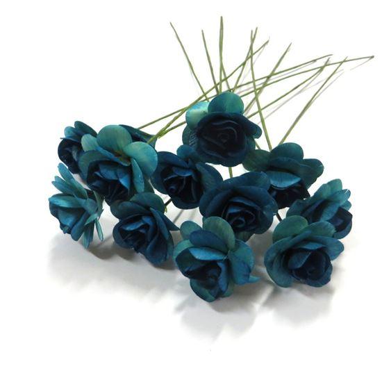 Obrázek z Deco růžičky - modrá (12ks)