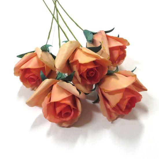 Obrázok z Deco ruža - ružová (5ks)
