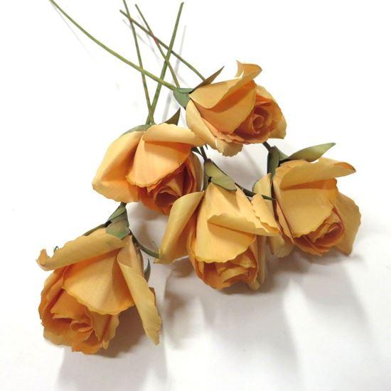 Picture of Deco růže - oranžová (5ks)