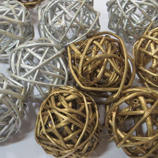 Obrázok z Lata ball 4cm - zlatý, strieborný(20ks)