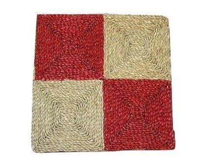 Picture of Rohož na podlahu - mořská tráva 60x60 červená